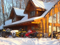 snowmobile from your front door